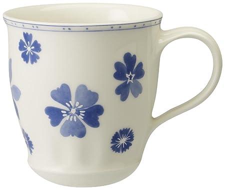Villeroy & Boch Farmhouse Touch Blueflowers 0.40 Litre Mug: Amazon ...