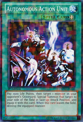 Autonomous Action Unit - Yu-Gi-Oh! - Autonomous Action Unit (BP02-EN140) - Battle Pack 2: War of the Giants - 1st Edition - Mosaic Rare