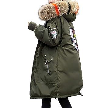 LanLan Abrigo Largo de Las Mujeres, Abrigo cálido Acolchada de algodón, Abrigo de Invierno
