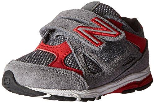 New Balance KV888V1 Infant Running Shoe (Infant/Toddler), Grey/Red, 6 W US Toddler
