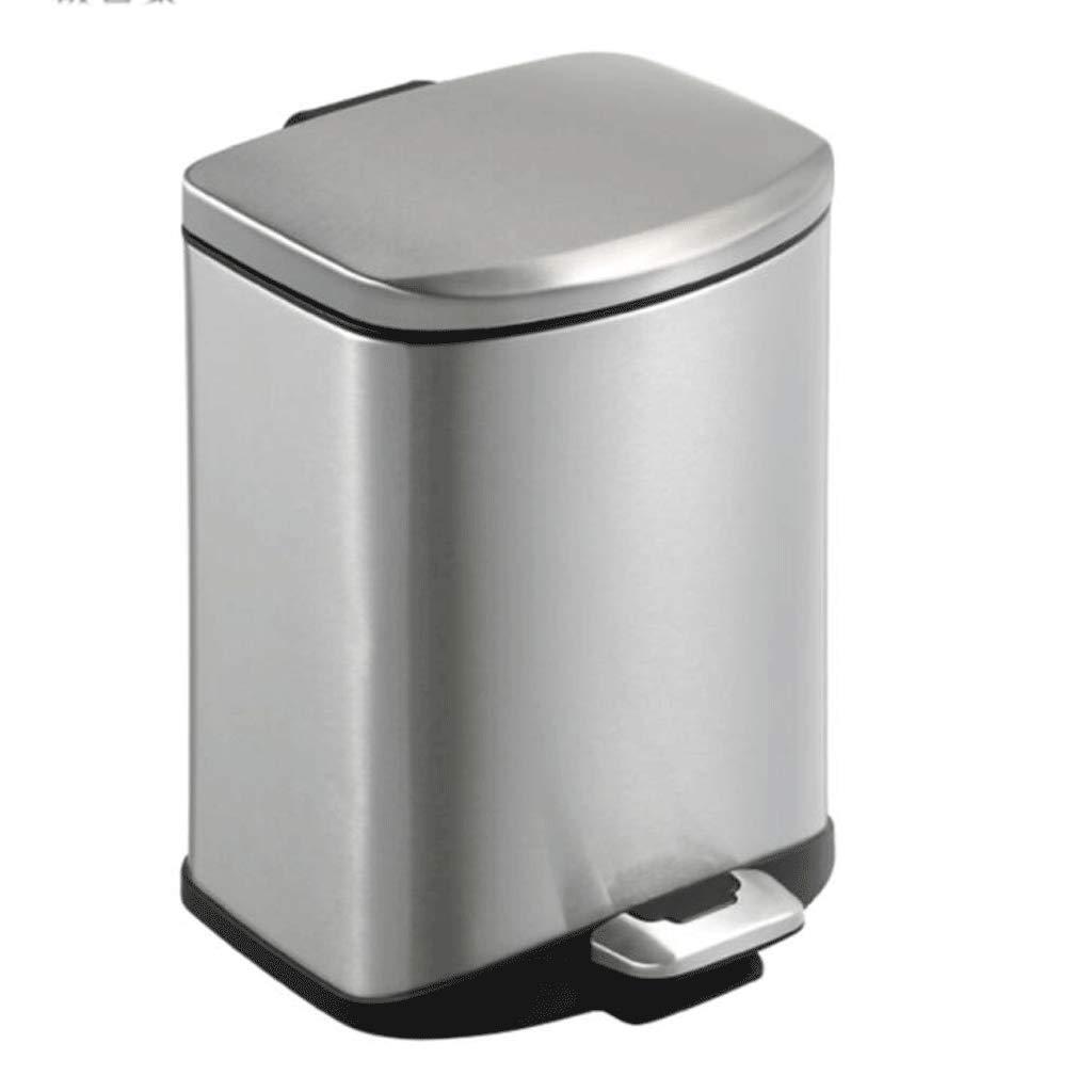 LINGZHIGAN ステンレススチールのごみは、家庭用の浴室の厨房のビンビンリビングルーム静かで丈夫です。 (容量 : 12L) B07KW1GCSK  12L