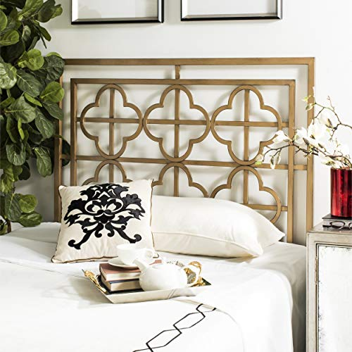 Safavieh FOX6215D-F Lucinda Headboard, Full, Antique Gold