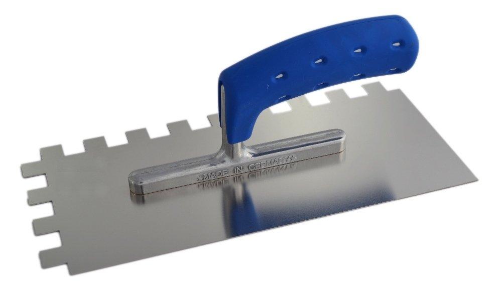 TREBI Profi Edelstahl-Glä ttekelle gezahnt rostfrei Softgriff blau 15 x 15 x 15 mm