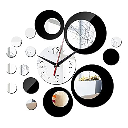 Zytree(TM) new acrylic large wall clock quartz watch diy clocks 3d stickers living