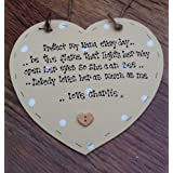 Shabby Personalised wooden chic plaque nanny Nana Nan Heart Plaque gift by shabby chic personalised ltd