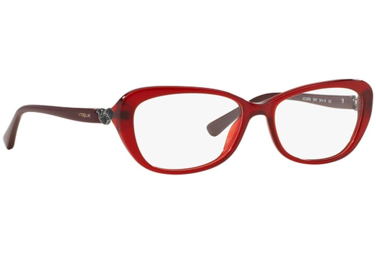 Vogue Eyeglasses VO2909 1947 Opal Bordeaux 54 16 135