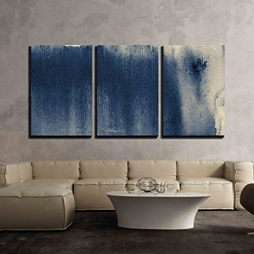 wall26 - 3 Piece Canvas Wall Art - Abstract Painted Grunge B