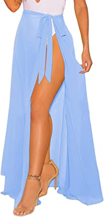 Azue Swimsuit Cover ups for Women Bathing Suit Long Skirts Summer Beach Wrap Skirt Bikini