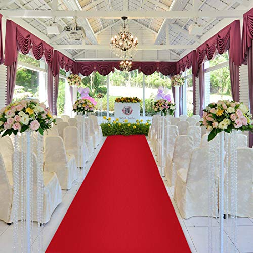 Healon Wedding Decor Aisle Runners for Weddings Outdoor Accessories Runner Rug 100 x 3 ft Red