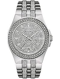 Men's 96B235 Swarovski Crystal Stainless Steel Watch