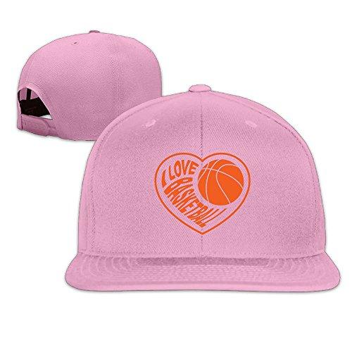 Safan532 Unisex I Love Basketball Cotton Snapback Hip Hop Flat Tongue Hats Adjustable Baseball Caps For Outdoor Sport