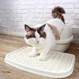 Weiai Litter Cat Mat Anti-Splash Litter Trapper Washable Plastic Tray with Unique Pattern - 18.8