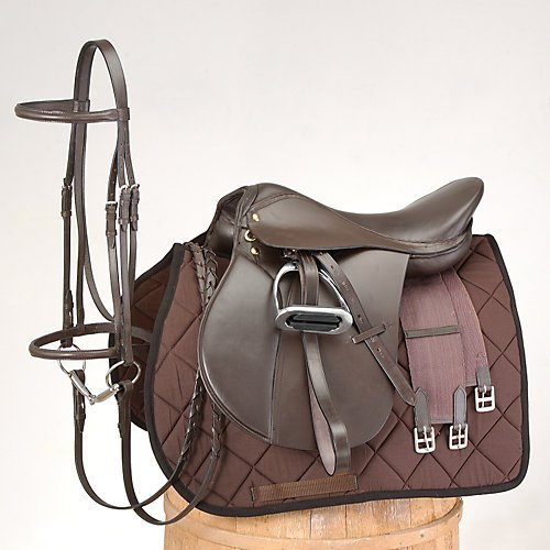 - EquiRoyal Event Saddle Package 17In Brown