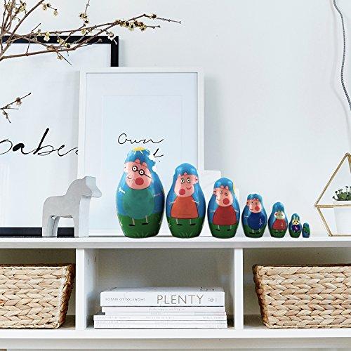 Peppa Pig Nesting Stacking Dolls Matryoshka Toys Set 7 dolls 5.3 in by MATRYOSHKA&HANDICRAFT (Image #5)