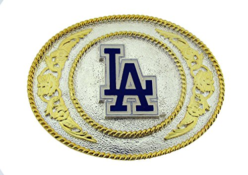 Official Licensed MLB La Dodger Fan Gold and Silver Tone Belt Buckle