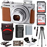 Canon Powershot G9 X Mark II Digital Camera (Silver) w/ 64GB Memory Card Bundle