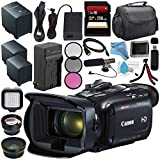 Canon VIXIA HF G21 HFG21 Full HD Camcorder 2404C002 + BP-828 Lithium Ion Battery Pack + External Rapid Charger + 256GB SDXC Card + 58mm Wide Angle Lens + 58mm 2x Telephoto Lens + Card Reader Bundle