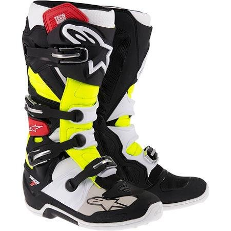 Alpinestars Tech 7 Boots , Primary Color: Black, Size: 14, Distinct Name: Black/Red/Yellow, Gender: Mens/Unisex 201201413614