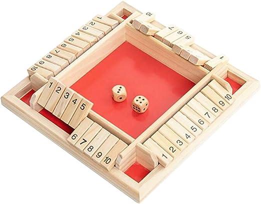 Toyvian Cuatro Caras Juegos de Flop Juego de Mesa Digital de Madera Juego Familiar de Padres e Hijos Juguetes educativos: Amazon.es: Hogar