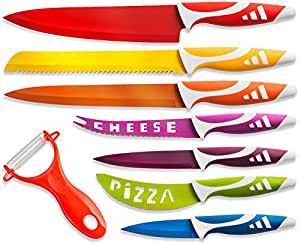 OxGord Professional Chef Knives, Multi Use 8pc Gift Set for Home Kitchen