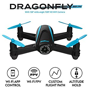Force1 HD Drone with Camera – RC Camera Drones for Kids & Pros - U34W Dragonfly Drone with Camera Live Video, Altitude Hold & Wi-Fi FPV - Easy to Fly Quadcopter Drones for Beginners from UDIRC