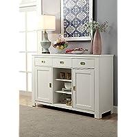 Reidar White Solid Wood Server by Furniture of America