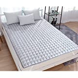 LJ&XJ Korean style tatami mattress,Thin soft mattress protector non-slip mattress topper breathable comfortable tatami mat-Grey Queen2