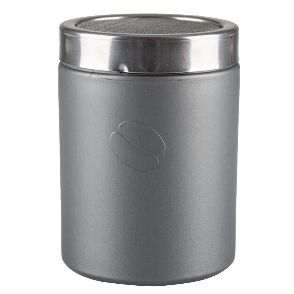 Grau Fenteer Edelstahl Mehl Salz Gew/ürz Shaker Schokolade Shaker