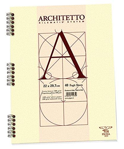 Pigna 010544210 Blocchi Architetto A4 spiralato Fg. 40 10 mm 100 gr/mq (conf.10)