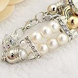 Womens Quartz Wrist Watches, SUPPION Womens Imitation Pearls Flower Luxury Watches