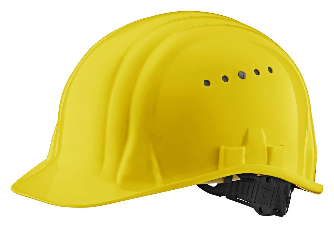 EU Schutz - Arbeitshelm - EN 397 Einstellbarer Schutzhelm - Bauhelm mit 6-Punkt Gurtband (Weiß )
