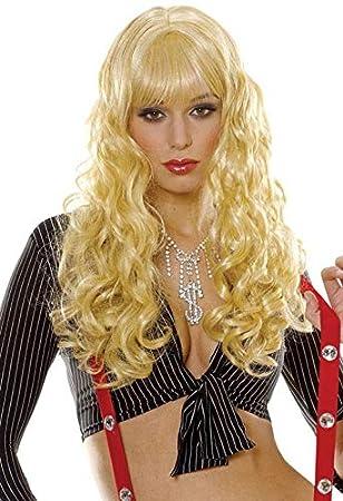 Horror-Shop Peluca rubia rizada Daniela