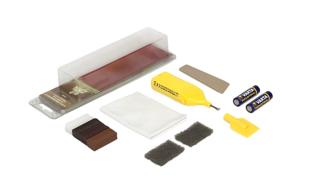 Picobello, Set di accessori per riparazione/restauro legno, parquet, laminati, mobili e scale, G61613