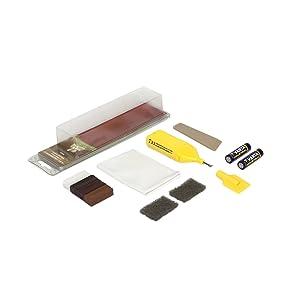 Picobello G61613 - Kit de reparación para madera (tamaño pequeño, para laminados, mobiliario o escaleras), color madera de tono oscuro