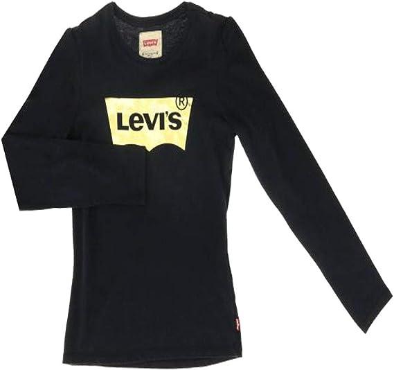 Cmaiseta Levis Logo Brillant Negro Niña: Amazon.es: Ropa y accesorios