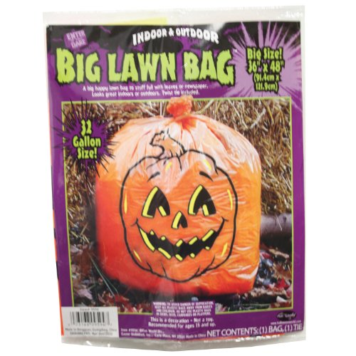 [Easter Unlimited 9594 Big Lawn Bag, Pumpkin Theme] (Bag Of Trash Costume)