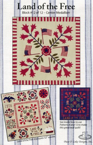 Land of the Free Quilt Pattern - Block #12 of 12 - Center (Flag Cross Stitch)