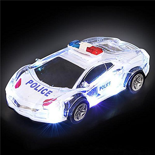 Light Up Police Car With Sounds, By 4E's Novelty,