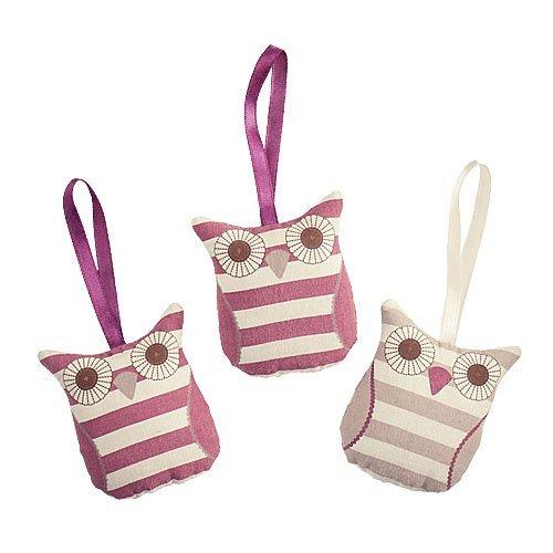 Olivia Owl set of 3 scented hanging fresheners Avon