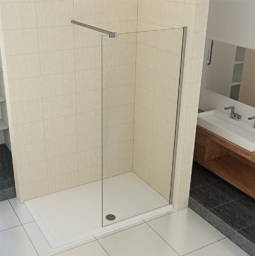 Walk de en vidrio de 10 mm – Mampara de ducha 90 – 140 cm: Amazon ...