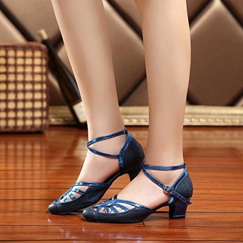 Eu Femme De Qwyp1xw Miyoopark Heel Bleu 35 4cm Salle Blue Bal 7SqUB
