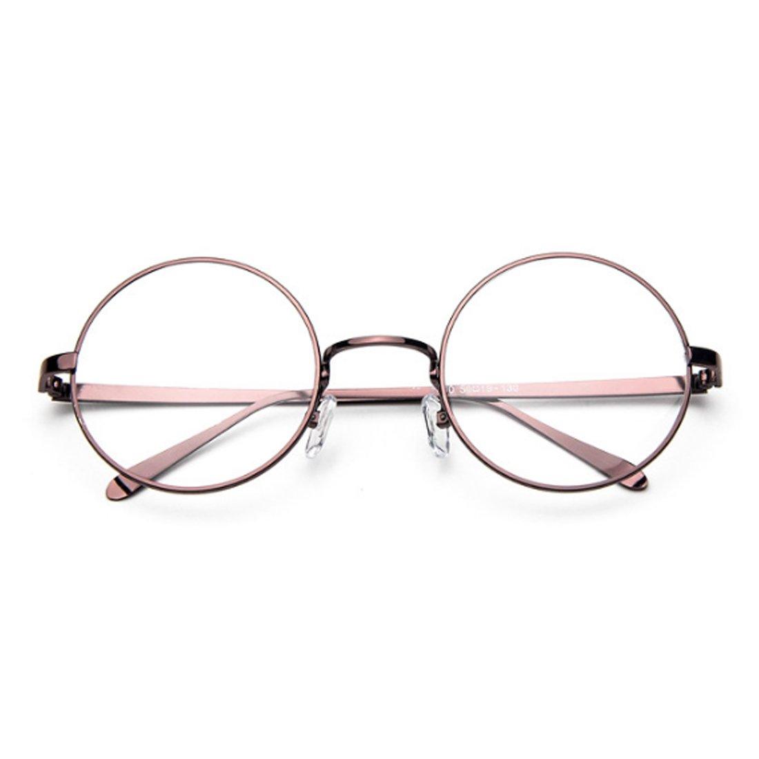 Fulision Male Female Circular myopia Glasses frame Fine Frame Retro Glasses by Fulision (Image #2)