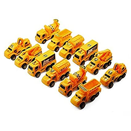 SUPER TOY Jcb Construction Toy Set -12 Pcs Yellow For Kid's