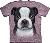 Boston Terrier Puppy Kids T-Shirt-L Purple