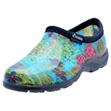 """Principle Plastics Sloggers Women's Rain and Garden Shoe with """"All-Day-Comfort"""" Insole, Midsummer Blue Print-Wo's Size 6-Style 5102BL06"""