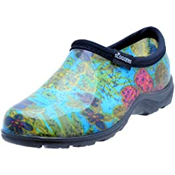 Sloggers Women's Waterproof Rain and Garden Shoe with Comfort Insole, Midsummer Blue, Size 8, Style 5102BL08