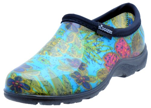 Women's and Insole Waterproof 10 Blue with Shoe Size Style Sloggers 5102BL10 Comfort Midsummer Rain Garden dZtdqR
