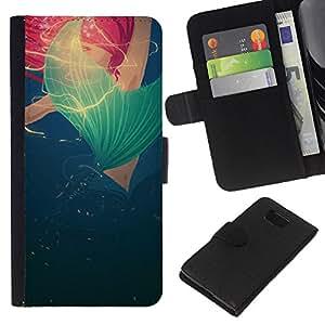 Planetar® Modelo colorido cuero carpeta tirón caso cubierta piel Holster Funda protección Para Samsung ALPHA / SM-G850 / S801 ( Bleu Rouge Rose Poppy Printemps Eté)