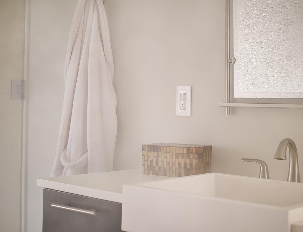 Leviton IPHSLW Humidity Sensor And Fan Control Single Pole - Humidity sensing bathroom fan for bathroom decor ideas