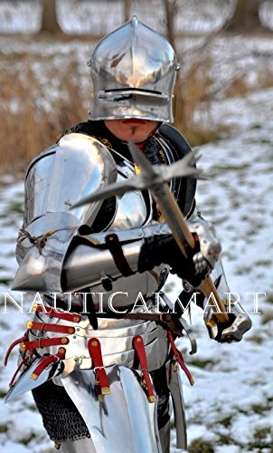 NauticalMart Medieval Full Suit Of Armor Combat Armour Knight Costume - LARP